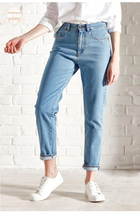 Radium Light Wash Mom Jean