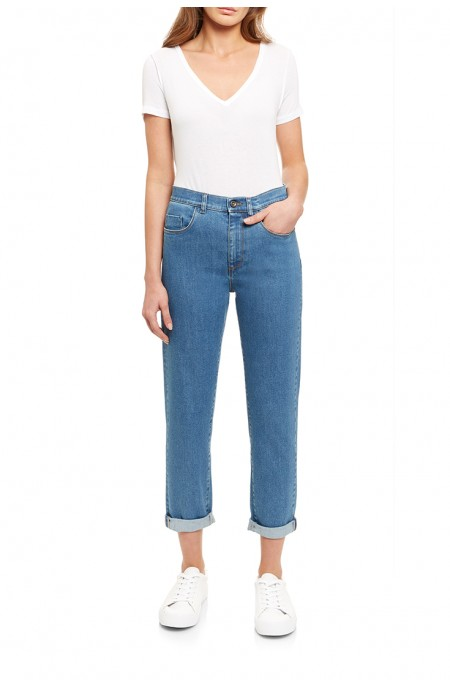 Radium Mid-Wash Mom Jean