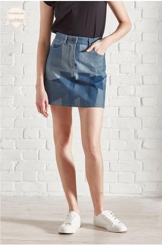 Labradorite Eco Patchwork Skirt