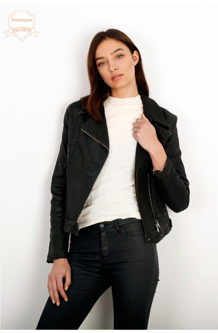 Carbon Eco-Leather Jacket