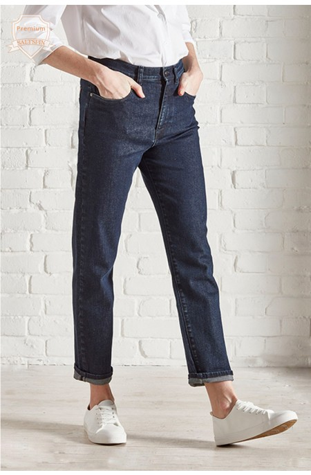 Radium Dark Wash Mom Jean