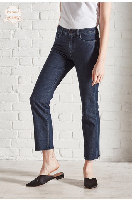 Radon Dark Wash Cropped Jean