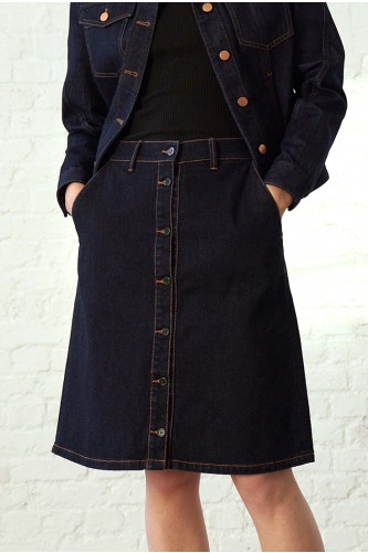 Argon Denim Skirt