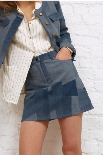Labradorite Eco Patchwork Skirt
