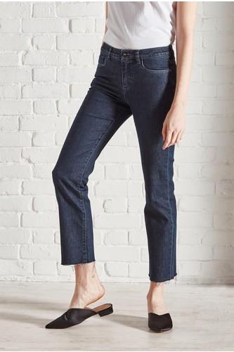 Radon Dark Wash Cropped Jean