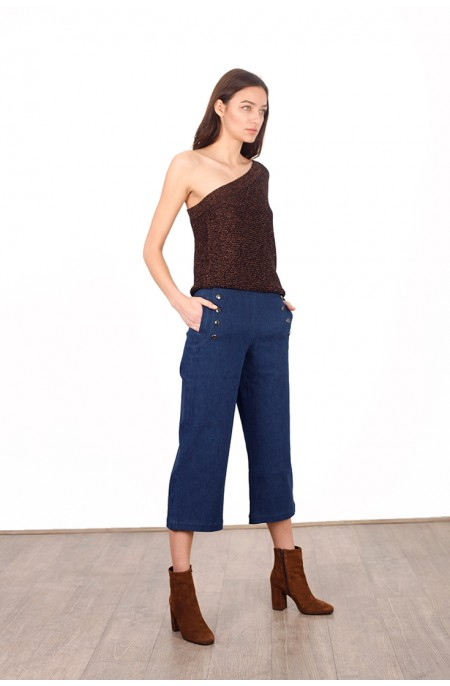 Magnesium Sailor Cropped Pant
